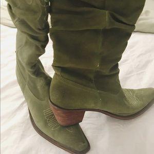 Steve Madden Suede Green Cowgirl Belts